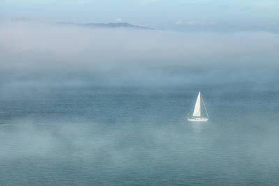 Photograph - Sailboat And Fog by Jonathan Nguyen