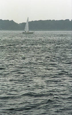 Photograph - Sailboat And Waves by Frank Romeo
