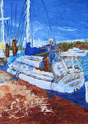 Painting - Sailboat At Rest by Chrys Wilson