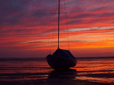 Photograph - Sailboat At Sunrise On Cape Cod Bay by Dianne Cowen