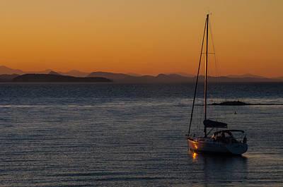 Photograph - Sailboat At Sunset by NaturesPix