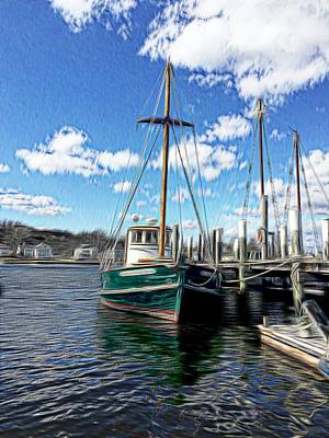 Digital Art - Sailboat At The Dock by Rusty R Smith