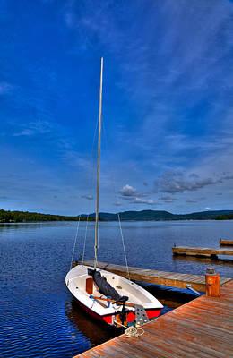 Sailboats At The Dock Photograph - Sailboat At The Woods Inn by David Patterson