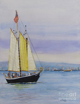Painting - Sailboat by Carol Flagg