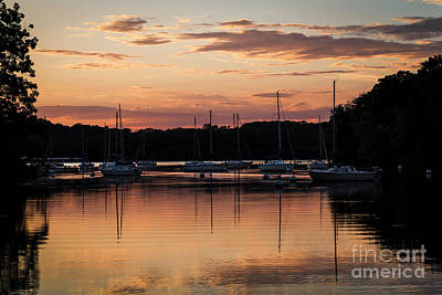 Photograph - Sailboat Cove Sunset by Dennis Hedberg