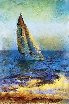 Photograph - Sailboat by Danuta Bennett