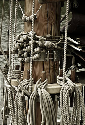 Ocean Sailing Photograph - Sailboat Detail 3952 by Frank Tschakert