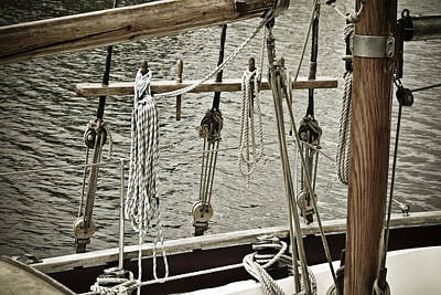 Ocean Sailing Photograph - Sailboat Detail 3954 by Frank Tschakert