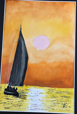 Painting - Sailboat by Donald Paczynski