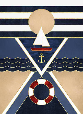 Sailboat Art Print by Elisabeth Fredriksson