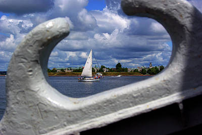 Photograph - Sailboat From A Cleat's View by Paul Wash