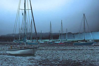 Sailboat Harbor Print by Karol Livote