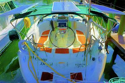 Sailboats Photograph - Sailboat Home by Charles Haaland