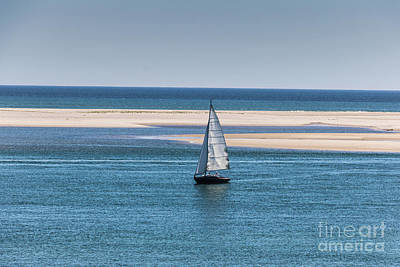 Photograph - Sailboat In Chatham Harbor by Thomas Marchessault