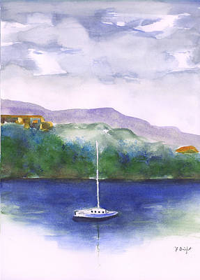 Painting - Sailboat In Chattanooga by Frank Bright