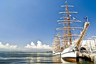 Sailboat In Rio Art Print by Daniel Wander