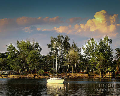 Photograph - Sailboat In The Bay by Les Greenwood