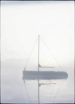 Digital Art - Sailboat In The Mist... by Tim Fillingim