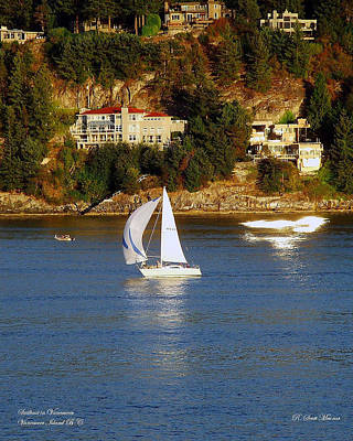 Photograph - Sailboat In Vancouver by Robert Meanor