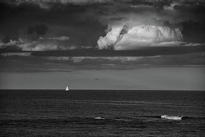 Photograph - Sailboat Into A Storm by Raymond Salani III