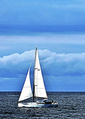 Photograph - Sailboat No. 143-1 by Sandy Taylor