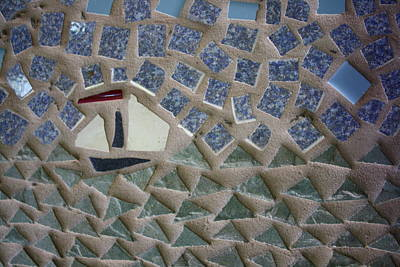 Northeast Mixed Media - Sailboat On A Mosaic Sea by Anne Babineau