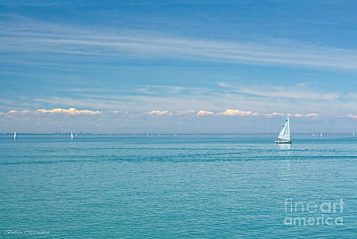 Photograph - Sailboat On Blue by Barbara McMahon
