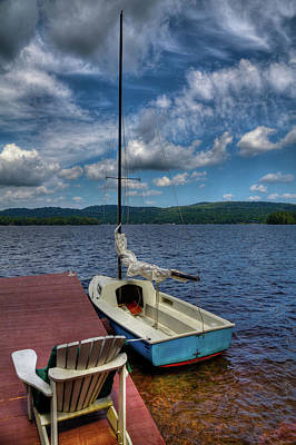 Sailboat On First Lake Art Print