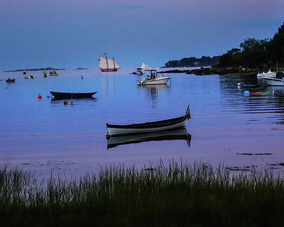 Photograph - Sailboat On Juniper Cove Salem Ma by Toby McGuire
