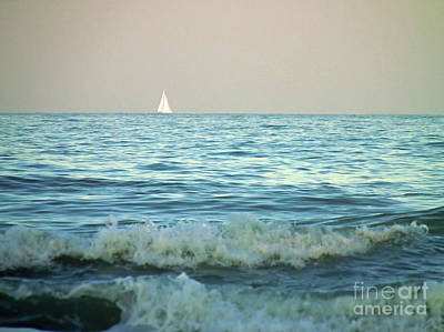 Photograph - Sailboat On The Horizon by D Hackett