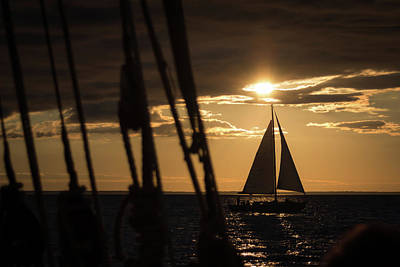 Photograph - Sailboat On The Horizon by Jeanette Fellows
