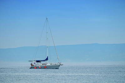 Photograph - Sailboat On The Mediterranean Sea, Split, Croatia by Elenarts - Elena Duvernay photo