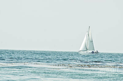 Photograph - Sailboat On The Ocean  by Jim And Emily Bush