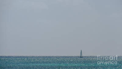 Photograph - Sailboat On The Sparkly Carribean by Cheryl Baxter