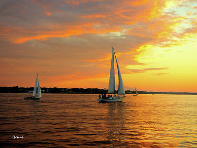 Art Print featuring the photograph Sailboat Parade by Robert Henne