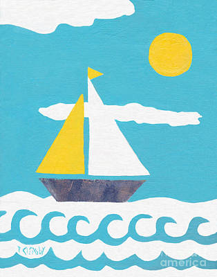 Painting - Sailboat by Patricia Cleasby