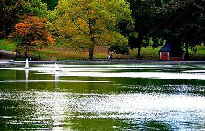 Sailboat Pond At Central Park Print by Christopher Kirby
