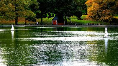 Photograph - Sailboat Pond In Central Park Afternoon by Christopher Kirby