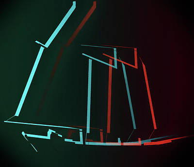 Mixed Media - Sailboat Pop Art by Dan Sproul