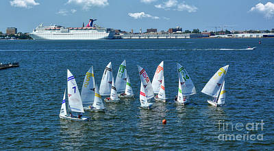 Photograph - Sailboat Races by Kathy Baccari