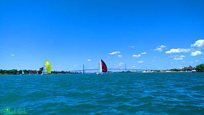 Sailboat Races On Detroit River Original
