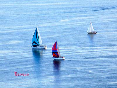 Photograph - Sailboat Races by Sadie Reneau
