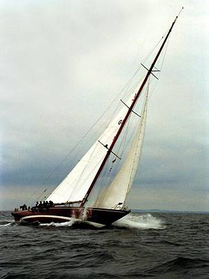 Photograph - Sailboat Racing by Juozas Mazonas