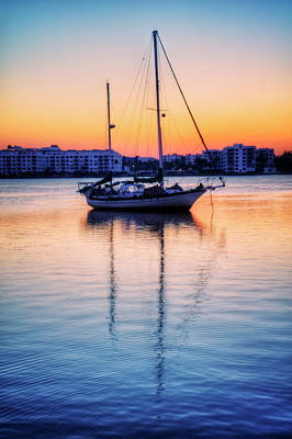 Photograph - Sailboat Reflections by Debra and Dave Vanderlaan