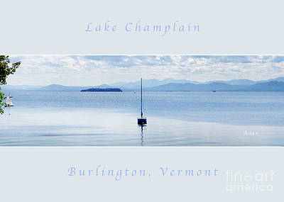 Photograph - Sailboat Resting Panorama Greeting Card Poster Soft Pale Blue by Felipe Adan Lerma