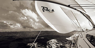 Coopers Photograph - Sailboat Spinnaker Fate Beneteau 49 Charleston Sc  by Dustin K Ryan