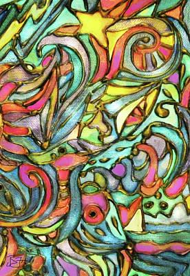 Painting - Sailboat Star by Jean Batzell Fitzgerald