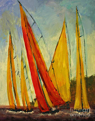 Painting - Sailboat Studies 2 by Julie Lueders