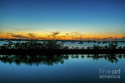 Photograph - Sailboat Sunset At Shepard's Park by Tom Claud