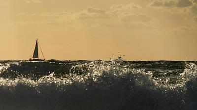 Photograph - Sailboat Surf Delray Beach Florida by Lawrence S Richardson Jr